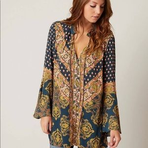 FREE PEOPLE | magic mystery printed tunic small s